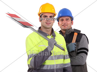 Workmen Stock Photo