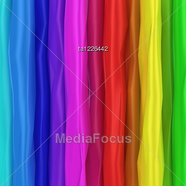 Wrinkled Background Of Rainbow Colors Stock Photo