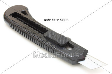 Writing Knife Of Black Color Stock Photo