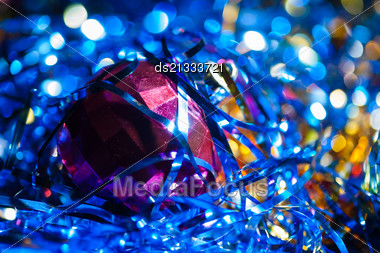 Xmas Ball Bokeh Stock Photo