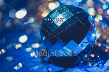 Xmas Ball Bokeh Stock Photo