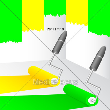 Royalty Free Stock Photo Yellow And Green Paint