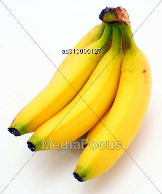 Yellow Bananas Apples And Pears A Still-life Stock Photo