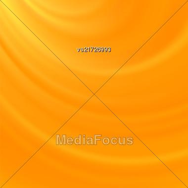 Yellow Blurred Wave Background. Soft Satin Pattern Stock Photo