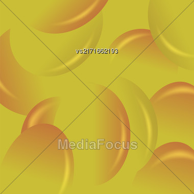 Yellow Candy Background. Set Of Yellow Jelly Beans Stock Photo