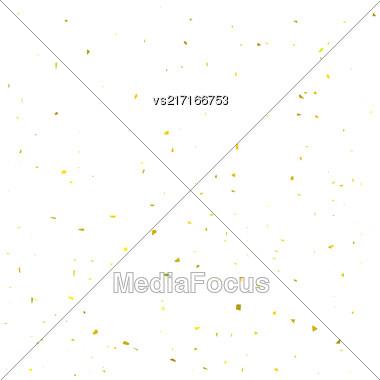 Yellow Confetti Isolated On White Background. Confetti Background Stock Photo
