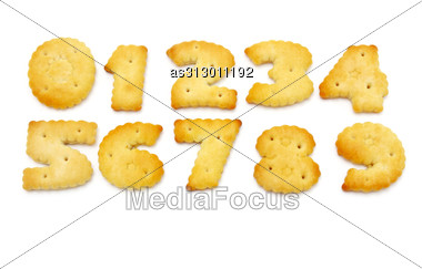 Yellow Cookies In The Form Of Figures Stock Photo