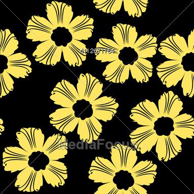 Stock photo yellow flowers pattern on black background image royalty free stock photo yellow flowers pattern on black background mightylinksfo