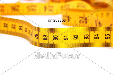 Yellow Measurement Stock Photo