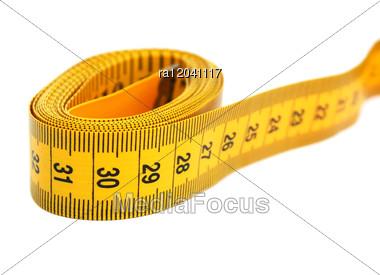 Yellow Measuretape Stock Photo