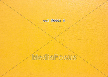Yellow Old Leather Background. Old Leather Texture Stock Photo