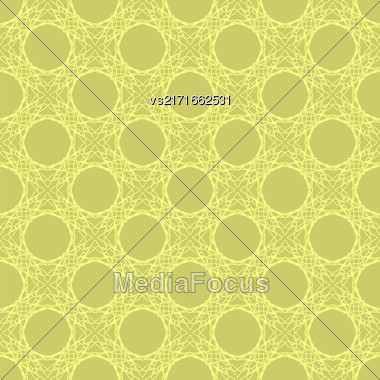 Yellow Seamless Texture. Element For Design. Ornamental Backdrop. Pattern Fill. Ornate Decor For Wallpaper. Traditional Decor On Background Stock Photo