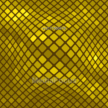 Yellow Square Pattern. Abstract Yellow Square Background Stock Photo