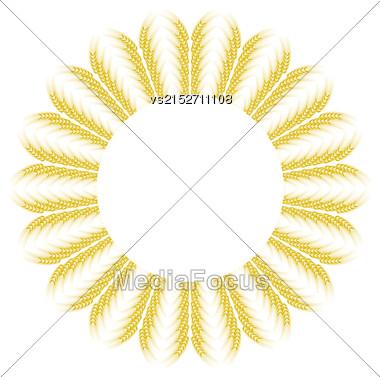 Yellow Wheat Icon Isolated On White Background Stock Photo