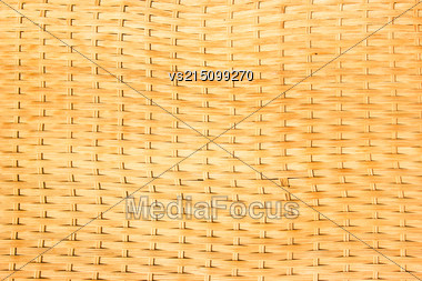 Yellow Wooden Background. Wicker Old Wooden Texture Stock Photo