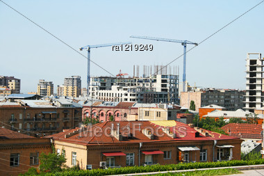 Yerevan City View In Armenia. Stock Photo