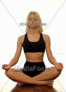 Yoga Exercise Stock Photo