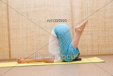 Yogi Women Pose Stock Photo