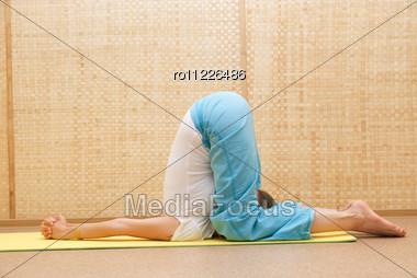 Yogi Women Pose Stock Photo