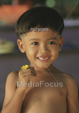Young Boy From Indonesia Stock Photo