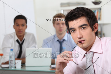 Young Businessmen Stock Photo