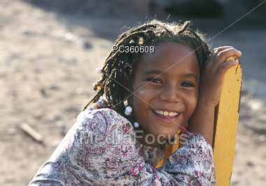 Young Girl with Great Smile Stock Photo