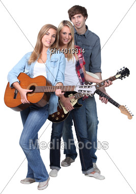 Young Guitarists Stock Photo