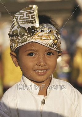 Young Indonesian Boy In Formal Wear Stock Photo