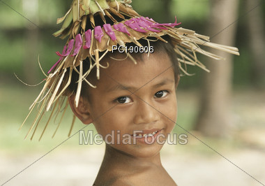 Young Indonesian Boy Stock Photo
