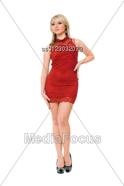 Young Pretty Blond Woman. Stock Photo