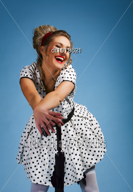 Young Pretty Woman Pinup Stock Photo