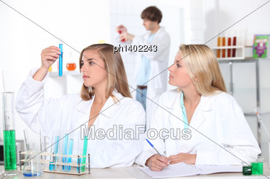 Young Scientists Stock Photo