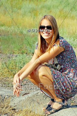 Young Women In Sun Glasses Stock Photo