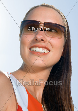 Young Women with Sunglasses Stock Photo