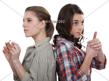 Youngster Confronted To Cigarettes Stock Photo