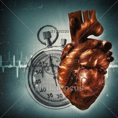 Your Time Is Up! Grungy Health And Medical Backgrounds Stock Photo