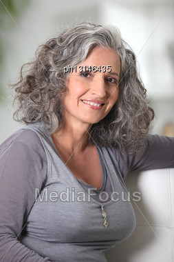 Youthful Senior Woman Stock Photo