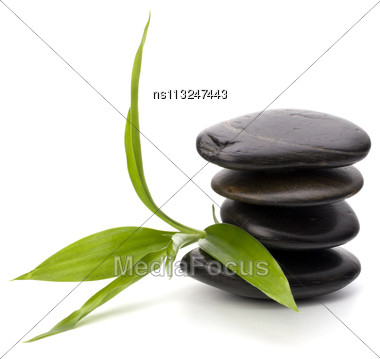 Zen Pebbles Balance. Spa And Healthcare Concept Stock Photo