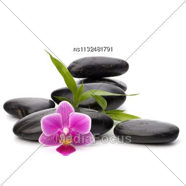 Zen Pebbles Balance. Spa And Healthcare Concept Stock Photo