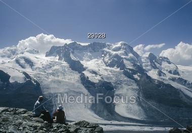 Zermatt, Gorner Glacier, Switzerland Stock Photo