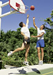 Stock Photo : Athletic Stock Image: 1 On 1 Basketball