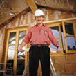 Mature protection building protective male builder adult stock photo