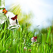 Spring Abstract Environmental Backgrounds For Your Design stock image
