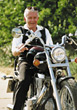 Stock Photo : Retiring Stock Image: Active Senior on Motorcycle