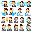 Business People Adviser Icon And Various Business Man And Woman. Creative Icon Design Series stock illustration