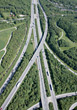 Aerial View Of Traffic - Road System stock image