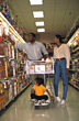 African American Family Grocery Shopping stock photography