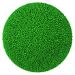 Sphere Ball Made Of Green Grass - stock photography
