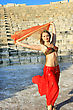 Oriental Stock Photography: Beautiful Belly Dancer On The Ancient Stairs Of Kurion Amphitheatre In Cyprus