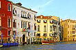 Beautiful Water Street - Grand Canal In Venice, Italy stock photography